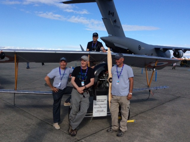 11-Comox Airshow - Allan Snowie (center- top), Peter Thornton (right), Paul O'Reilly (center) and Larry Ricker (left)