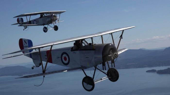 4-Nieuports over Vancouver Island