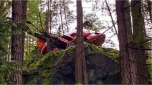 Helicopter crash on Bowen Island, BC